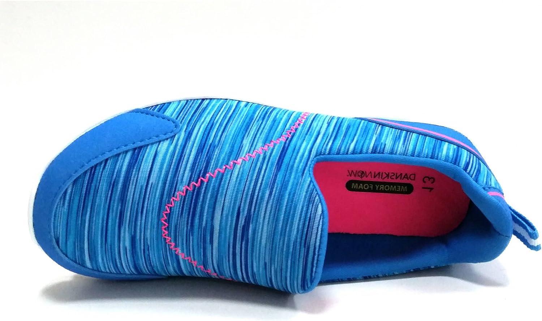 Danskin Now Girls Memory Foam Slip-on Athletic Shoes Blue Kids Size 2
