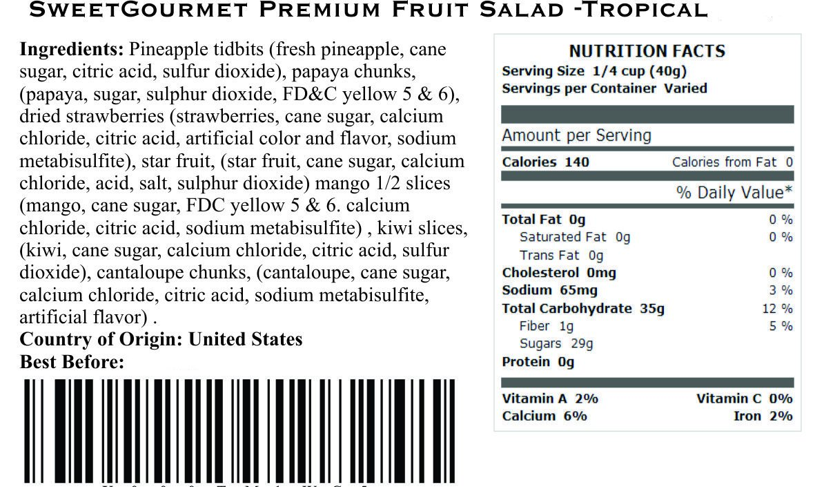 SweetGourmet Tropical Dried Fruit Salad (5Lb) by SweetGourmet (Image #2)