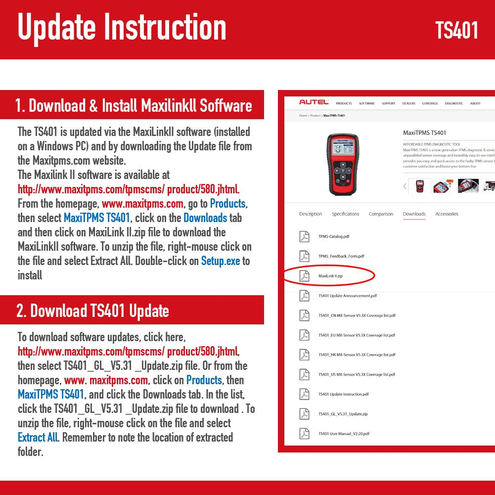 Autel TS401 MaxiTPMS Activation Tool with MX-sensor Programming Service by Autel (Image #5)