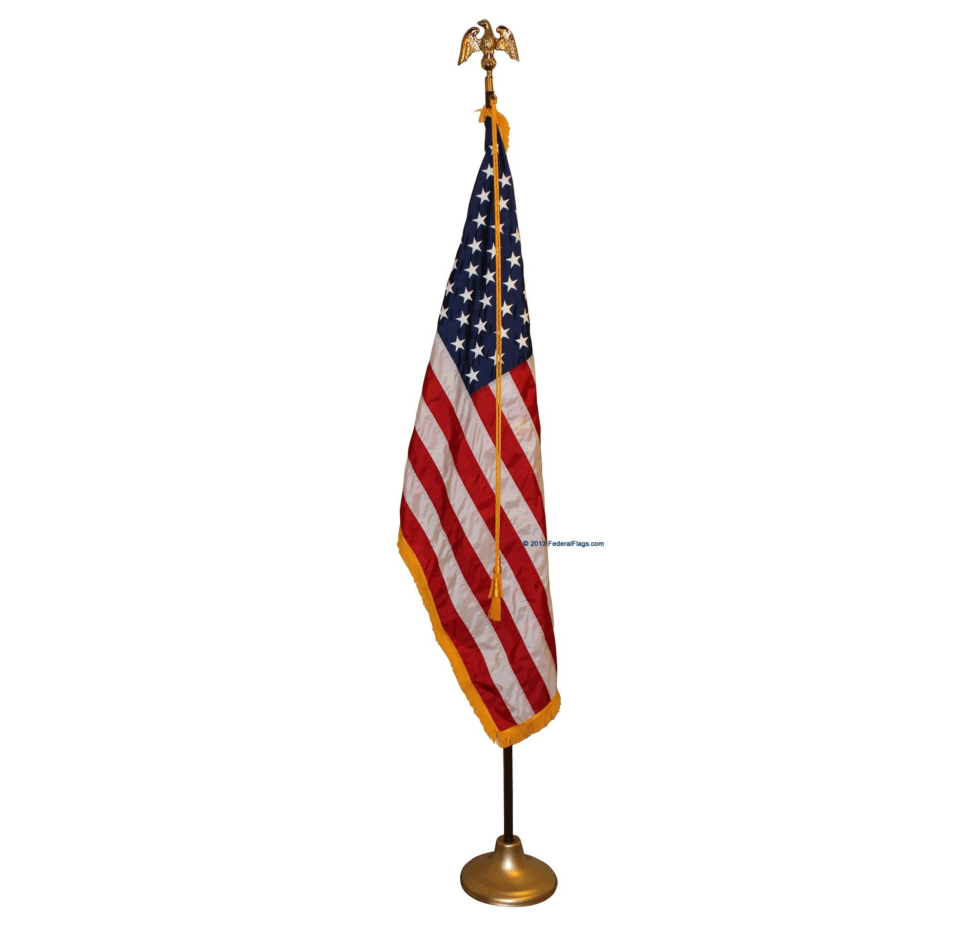 8ft. Indoor American Flag Pole Set - Government, Institutional & Commercial Grade by Federal Flags