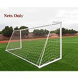 Soccer Goal Net Football Polyethylene Training Post Nets Full Size (Nets only)