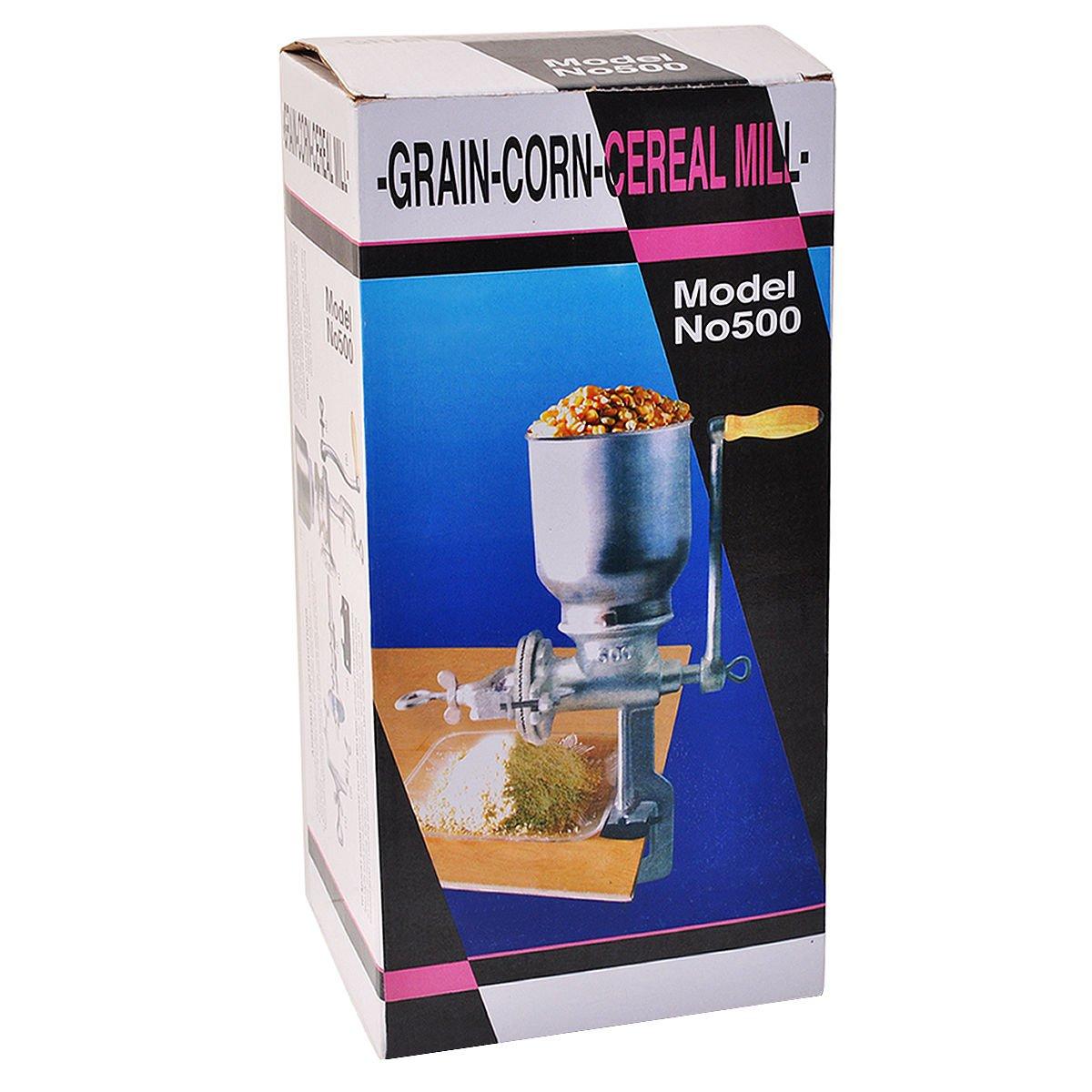 Yosoo Hand Operated Corn Wheat Grinder Cast Iron Big Hopper Grain ...