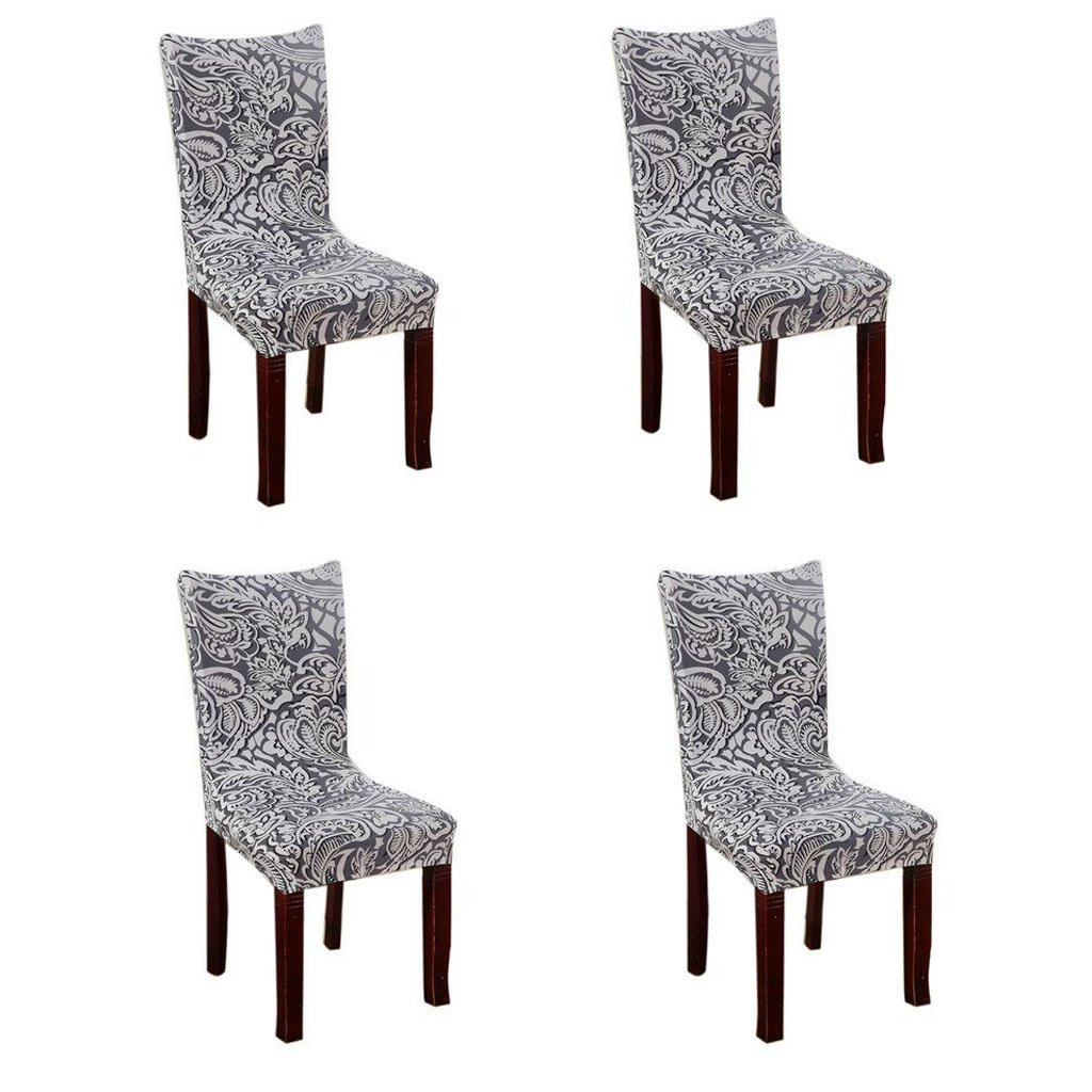 Fuloon Chair Cover Stretch Removable Washable Chair Slipcovers for Hotel Dining Room Ceremony Banquet Wedding Party Decor (set of 4)