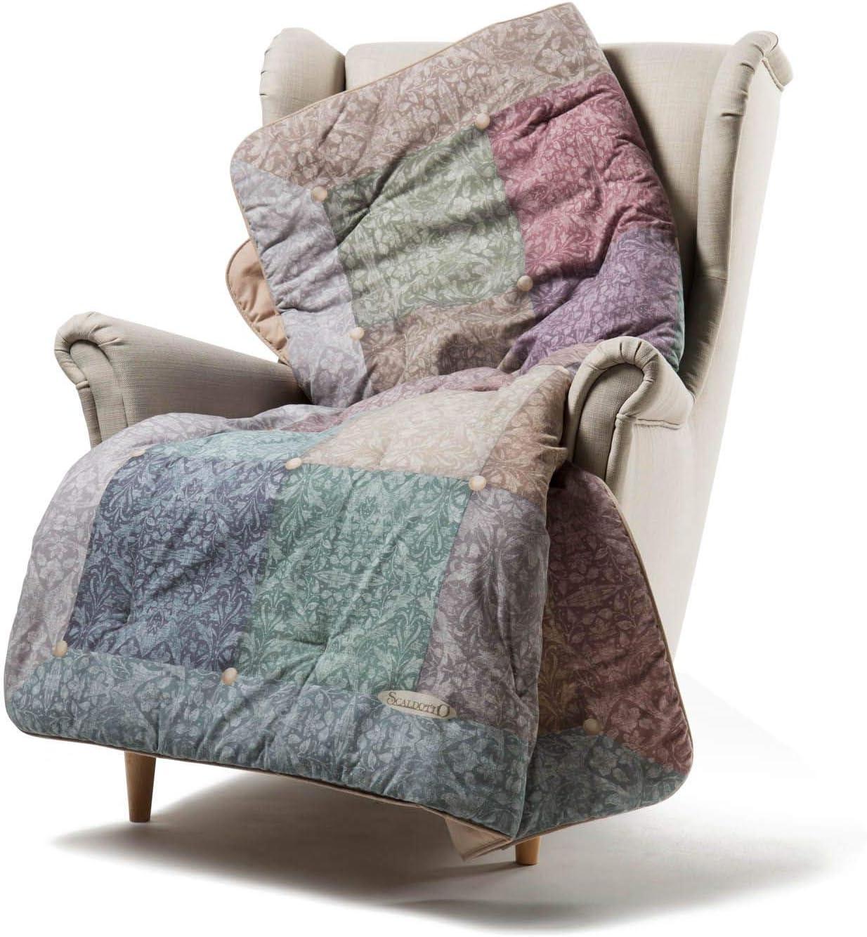 Caleffi - Calentador imperial burdeos, tejido de algodón, 130 x ...