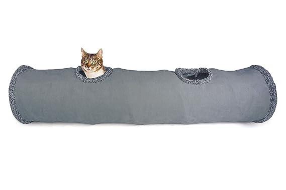 LeerKing Túnel Plegable para Gatos Tubo de Juguete Largo para Mascotas 2 Vías 130 * 30 cm: Amazon.es: Productos para mascotas