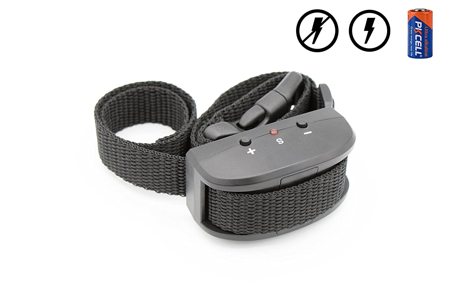 Bark Collar Dogs. Battery Included  (Can be Used Without Shock)