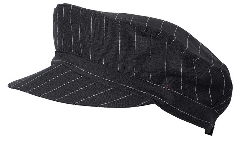 Cappello naxos unisex gessato nero gelaterie, bar, ristoranti MT0209