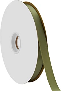 "product image for Offray Berwick 5/8"" Single Face Satin Ribbon, Moss Green, 100 Yds"