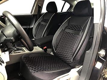 Seatcovers By K Maniac V1808448 Sitzbezüge Für Audi A4 B8 Avant Universal Schwarz Weiss Autositzbezüge Set Vordersitze Autozubehör Innenraum Auto Zubehör Auto