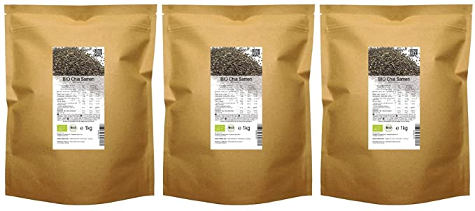 BIO las semillas de Chía («Salvia hispanica»)  3 kg: Amazon ...