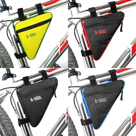 Qewmsg Portable Size MTB Borse Bici da Bicicletta Impermeabile Ciclismo Top Anteriore Tubo Telaio Borse Triangolo Borsa Accessori Ciclismo