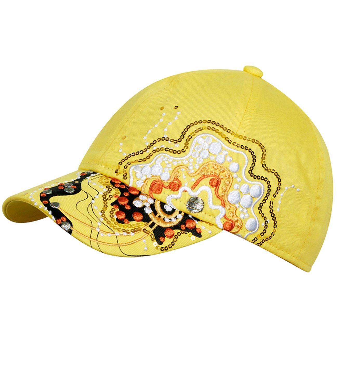 EveryHead Fiebig Mädchenbasecap Basecap Baseballcap Sommercap Kappe Streetwear mit Gummizug und Stickerei Sowie Pailletten für Kinder (FI-67347-S16-MA3) inkl Hutfibel
