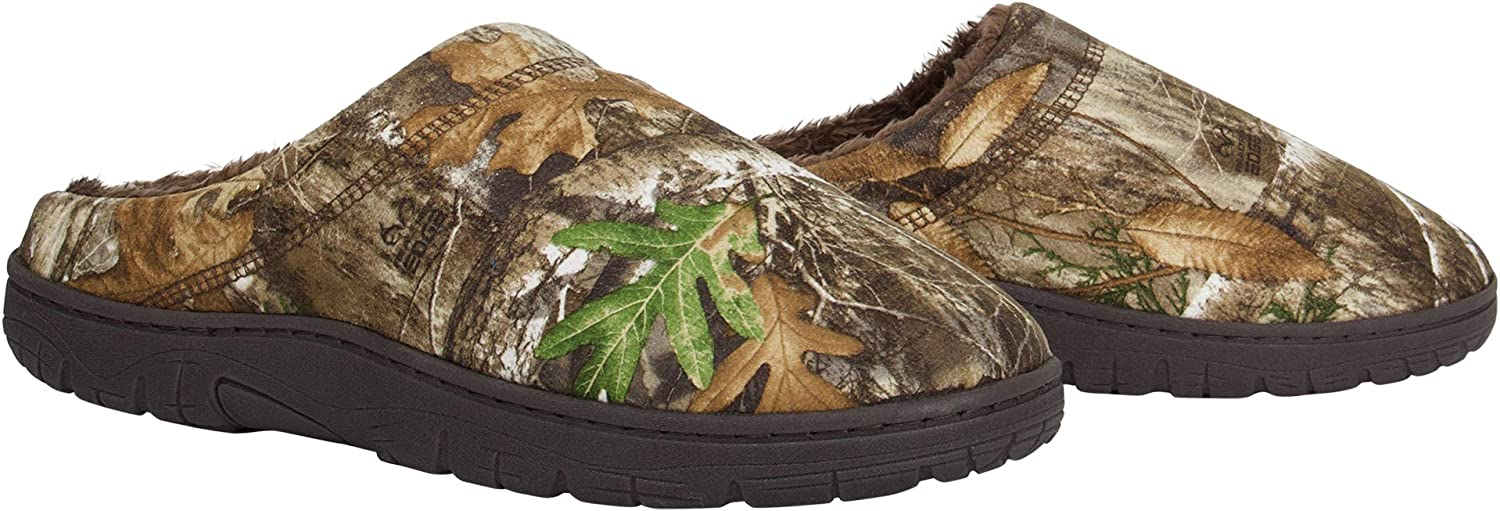 Realtree Kids Camo Slipper House Shoe with Memory Foam Indoor//Outdoor Sole