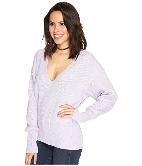 da597994dd0d Free People Women s Allure Pullover Lavender Small at Amazon Women s  Clothing store
