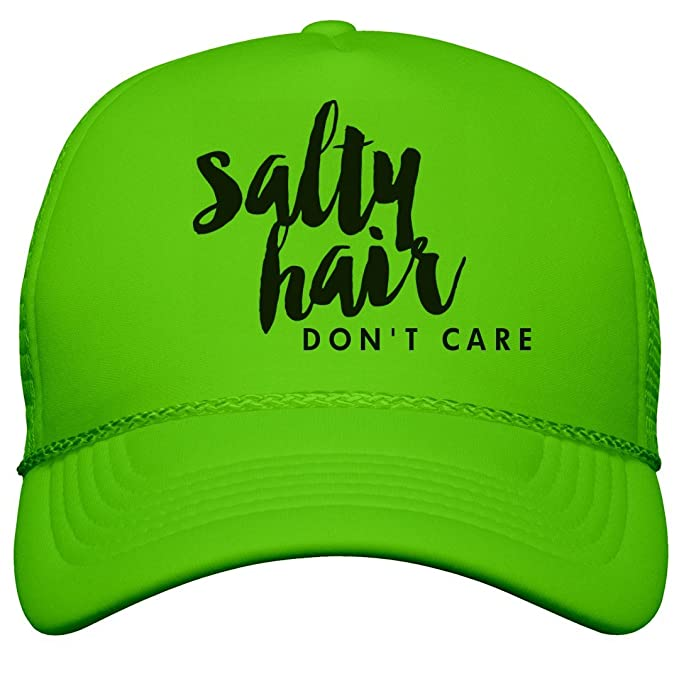 1d1f98c1 Amazon.com: Customized Girl Salty Beach Hair Don't Care: Neon Snapback Trucker  Hat: Clothing