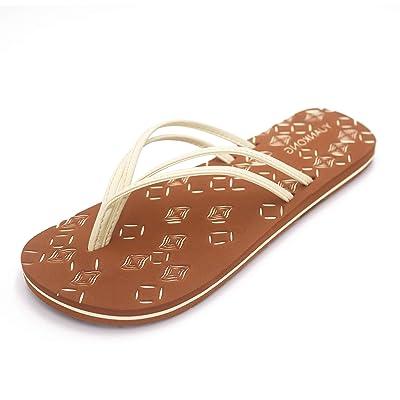 YUANKONG Women's Hand-Braided Flip Flops Sandals   Flip-Flops