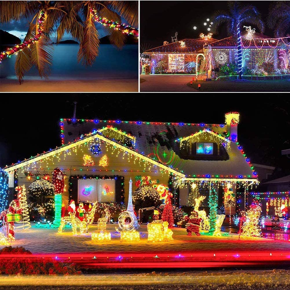 Camping Tents 16 Colors RGB LED Chasing String Lights with Remote Control 2 in 1 USB and Battery Powered Lighting for Garden Backyard Patio Umbrella Lights Party.