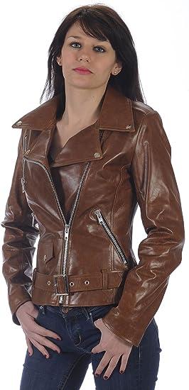 Femme Leather Blouson Crow Blouson Leather Crow Cuir NnZOPk8wX0