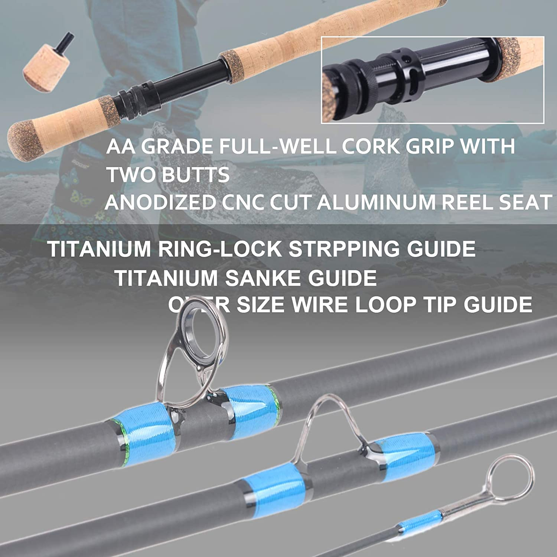 Maximumcatch Kohlefaser Ruten-Transportrohr mit Aluminum Kappe f/ür 9ft//10ft 4 teilige Fliegenrute