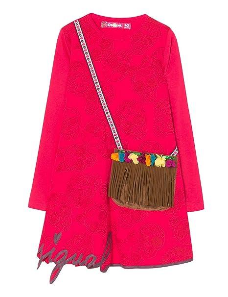 Desigual Vest_adís Abeba, Vestido para Niñas, Rosa (Fuchsia Rose 3022), 104