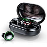 Donerton Wireless Earbuds, Bluetooth 5.0 Headphones IP8 Waterproof Earbuds, 80 Playtime, in Ear Earphones with Mic, Deep…