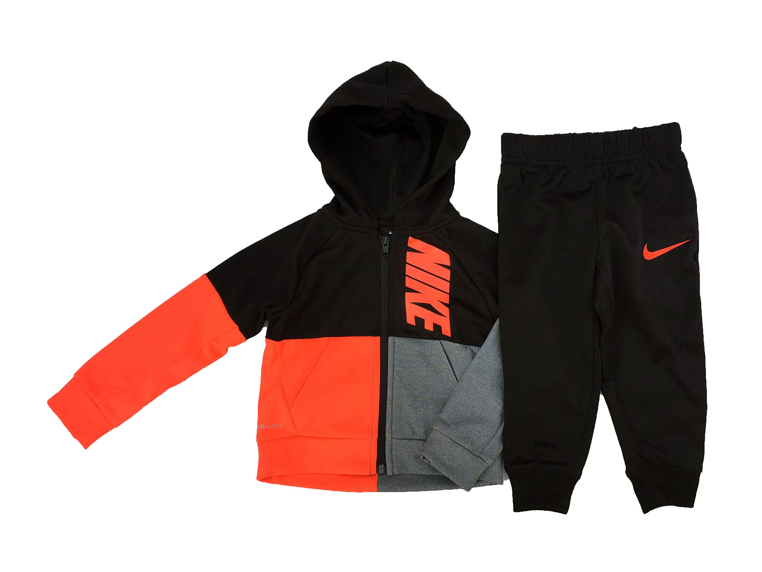 3937e9e6ab3b Galleon - Nike Toddler Boy s 2-Piece Split Color Therma Hoodie   Pants Set  (2T