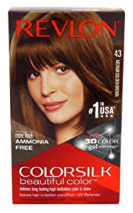 Revlon ColorSilk Hair Color [43] Medium Golden Brown 1 ea (Pack of 2)