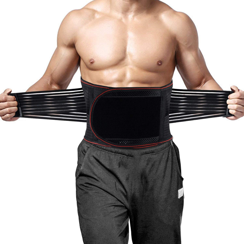 Lower Back Brace Lumbar Support Waist Backbrace Pain Relief Compression Belt HT