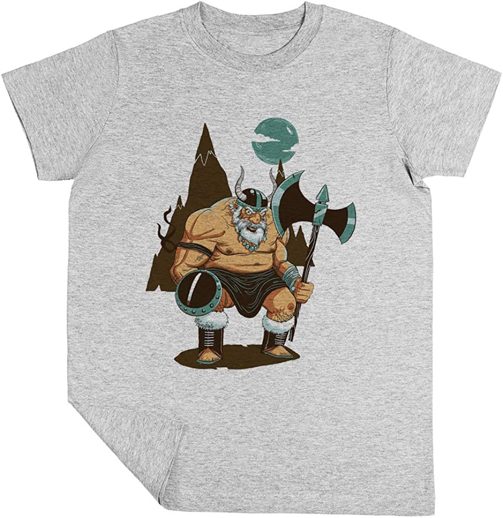 Los Enojado Hacha Hombre Niño Niña Unisexo Gris Camiseta Manga Corta Kids Grey T-Shirt