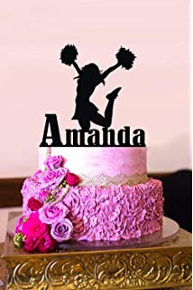 Enjoyable Amazon Com Personalised Cheerleader Cake Topper Toys Games Funny Birthday Cards Online Alyptdamsfinfo