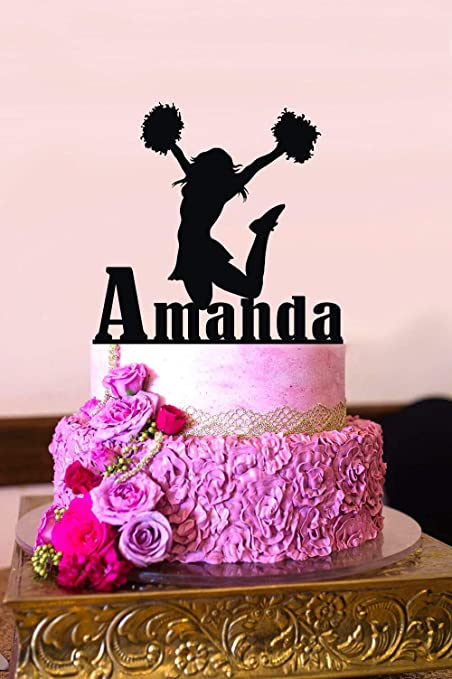 Amazon.com: Susie85Electra Cheerleader Cake Topper Cheerleader ...
