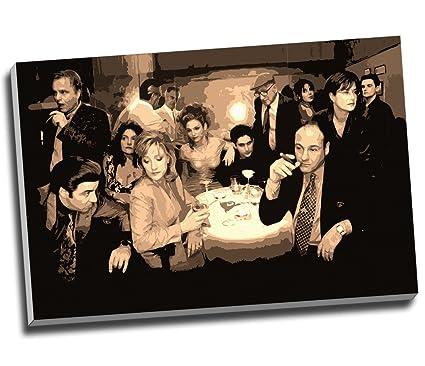 amazon com sopranos canvas collage modern gangster canvas print