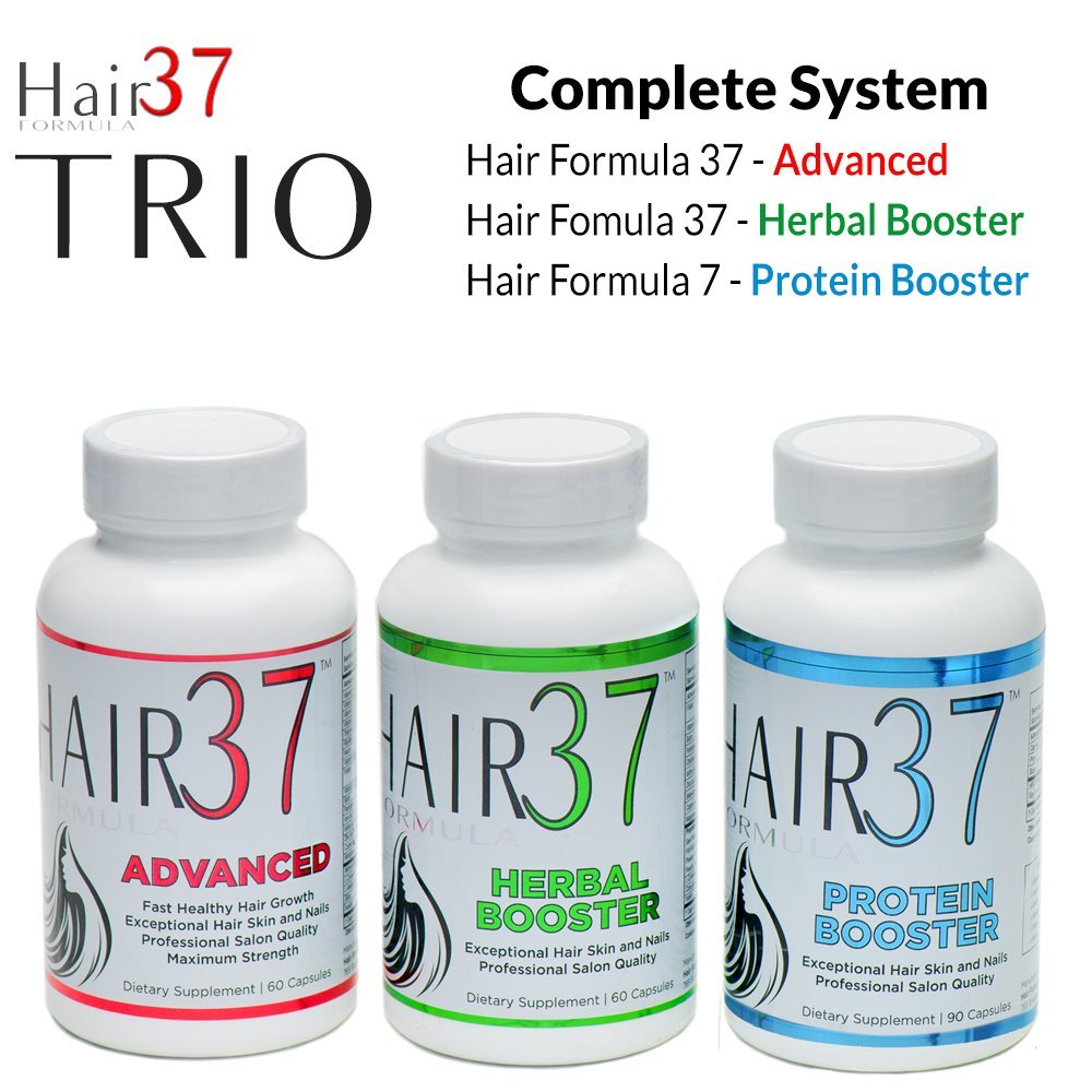 Good Hair Growth Vitamins Visible Results Faster TRIO by Hair Formula 37 Compare Supplements for Hair Skin and Nails Most Extensive Ingredient List Help Hair Loss, Fine Thin and thinning have Thickne