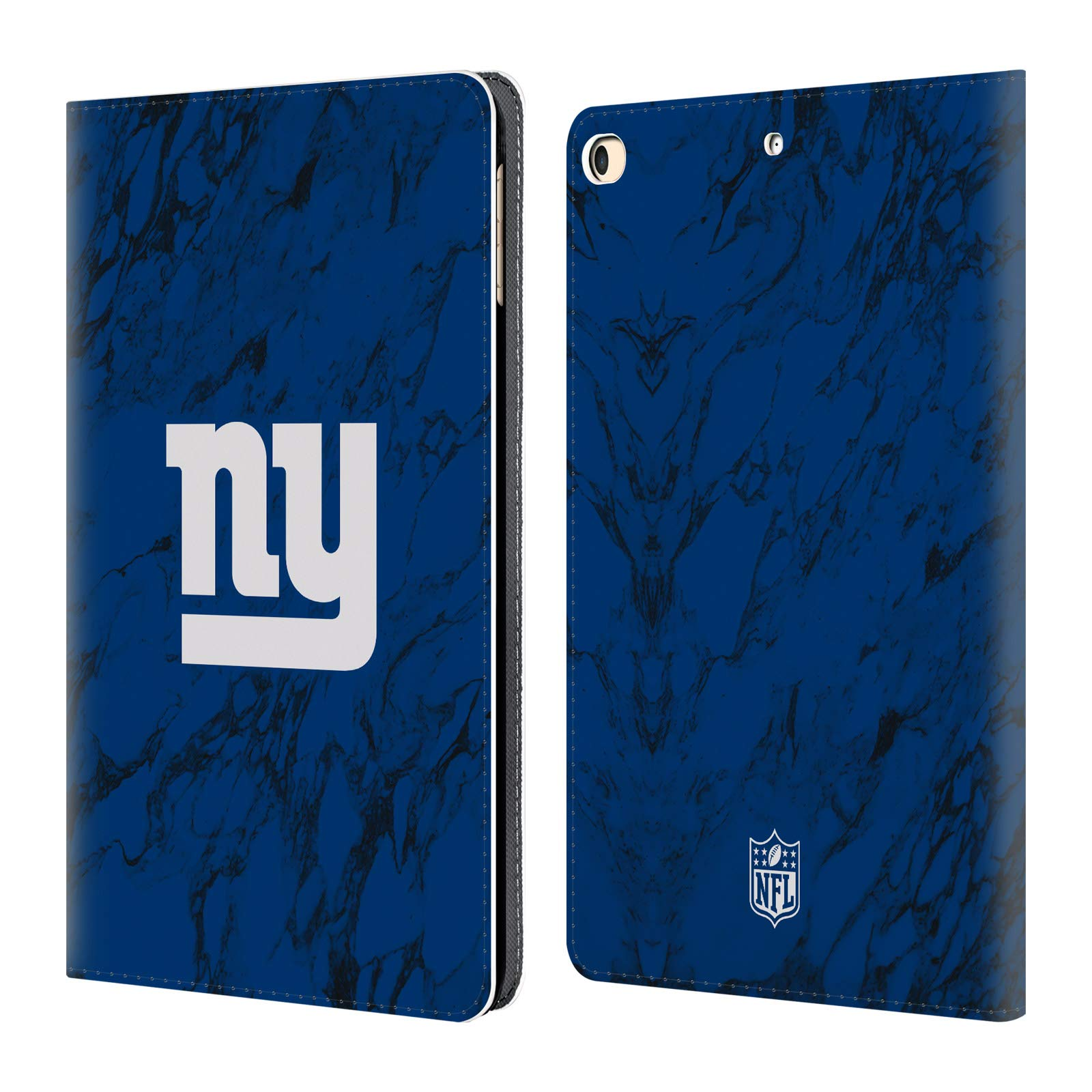 Official NFL Coloured Marble 2018/19 New York Giants Leather Book Wallet Case Cover for iPad 9.7 2017 / iPad 9.7 2018