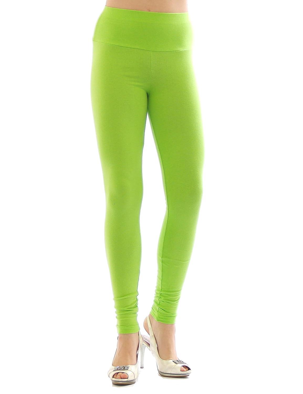 Leggings Donna vita alta Pantaloni lunghi Leggins lungo Cotone Biancheria