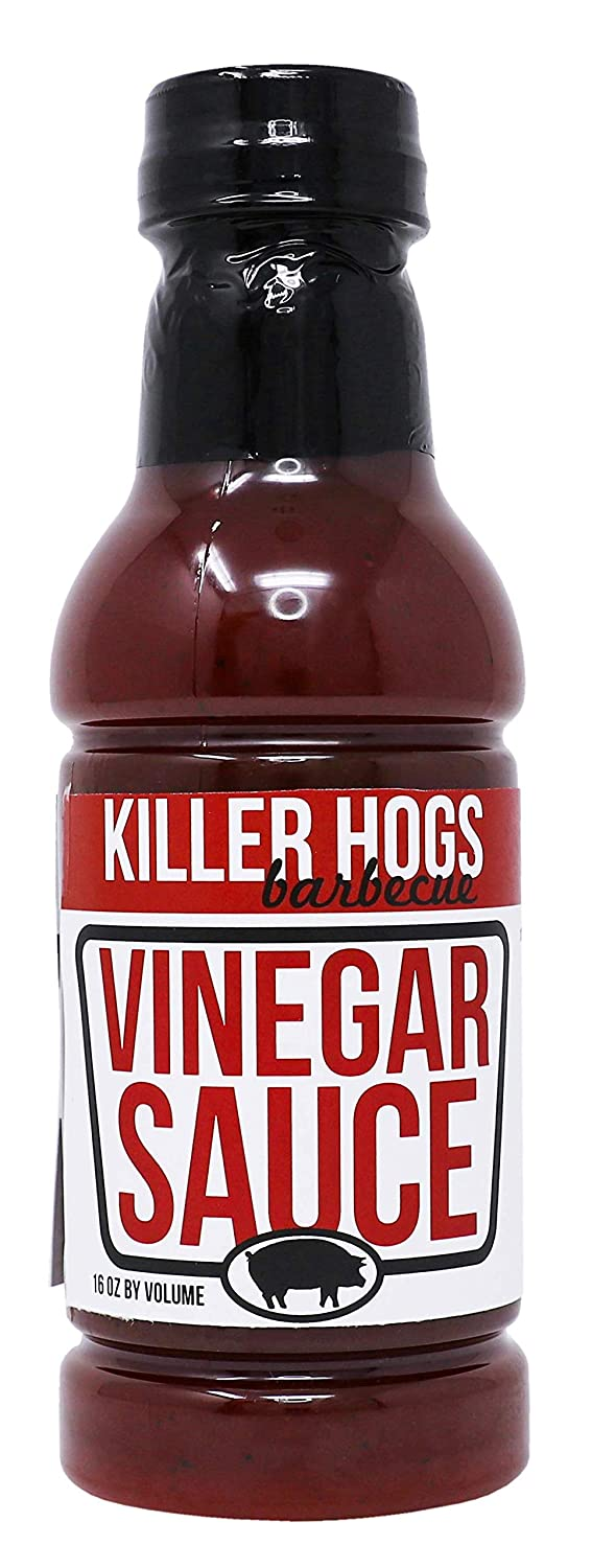 Killer Hogs Vinegar Sauce | Championship Grill and BBQ Sauce for Beef, Steak, Burgers, Pork, and Chicken | Sweet and Tangy and Spicy | 16 oz