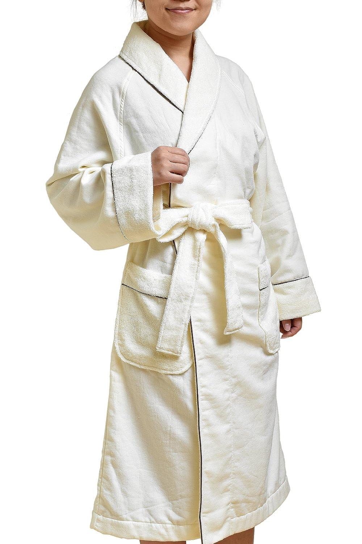 ブルーム 今治産 Fit-Use バスローブ 男女兼用 (シンプルアイボリー) B004XUJALI   Mサイズ(着丈約110cm対応身長155~165cm)