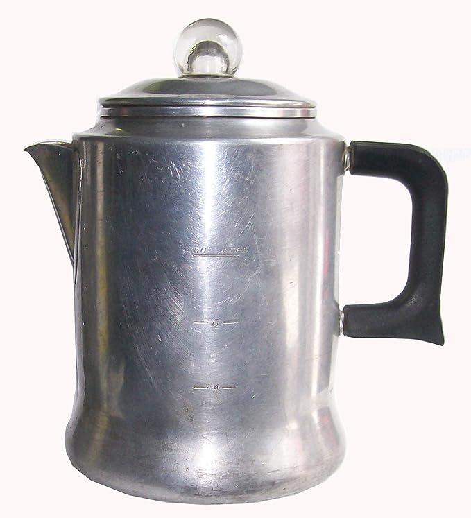 Comet The Popular - Cafetera de aluminio, 4 tazas, estilo vintage: Amazon.es: Hogar