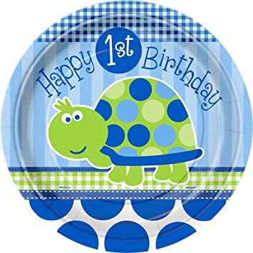 Turtle 1st Birthday Large Paper Plates (8ct)  sc 1 st  Amazon.com & Amazon.com : Turtle 1st Birthday Large Paper Plates (8ct ...