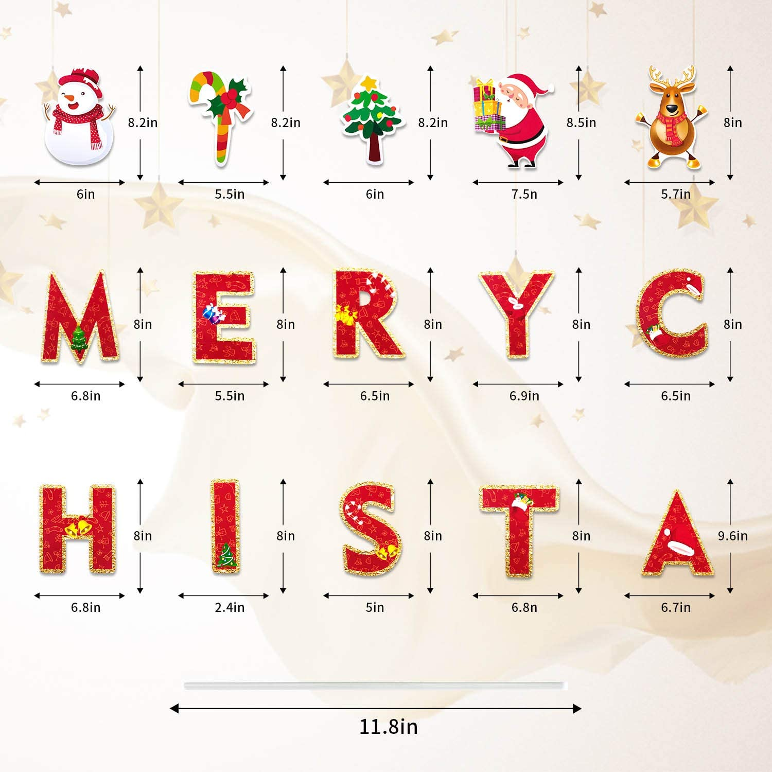 8 Inch Christmas Letters Yard Outdoor Lawn Yard Signs Xmas Holiday Winter Yard Home Sign Decorations Iceyyyy 19Pcs Merry Christmas Yard Sign with Stakes