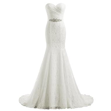 Beautyprom Women's Lace Mermaid Bridal Wedding Dresses