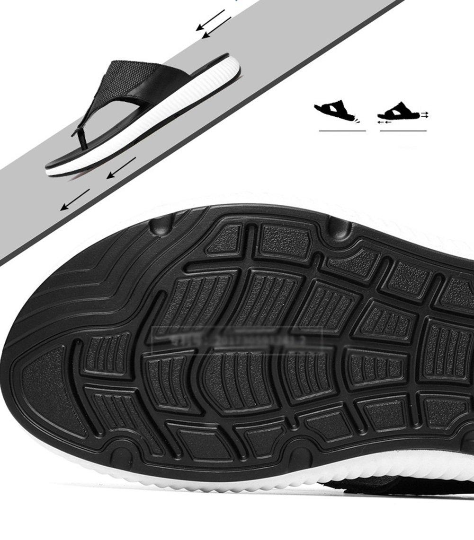 CAI Männer Hausschuhe 2018 Männer kühlen Drag Flip Flops große Herrenmode Trend Strand Schuhe Sandale große Flops Größe Komfort Sandale (Farbe   Schwarz, Größe   43) 0a7e37