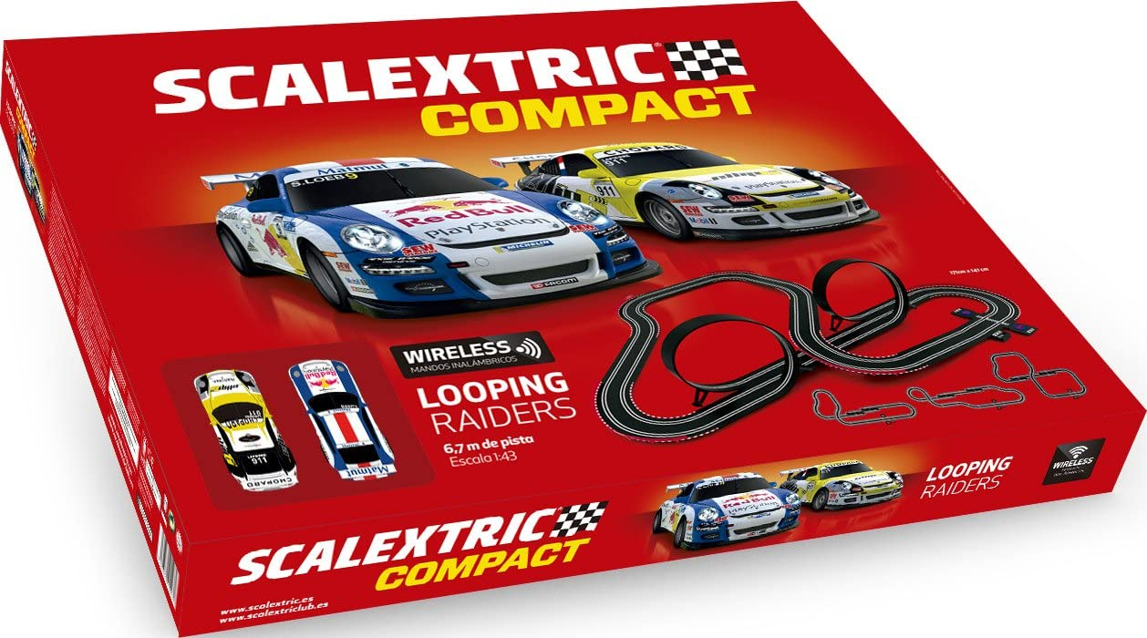 Scalextric- Compact Looping Raiders, Color Rojo, única (Scale Competition Xtreme C10257S500)