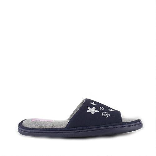 Zedzzz - Zapatillas de estar por casa para mujer Azul azul marino, color Azul, talla S: Amazon.es: Zapatos y complementos