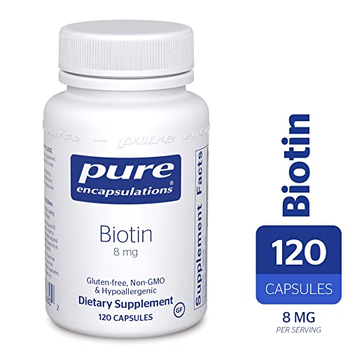 Pure Encapsulations - Biotin 8 mg - Hypoallergenic B Vitamin Supplement - 120 Capsules