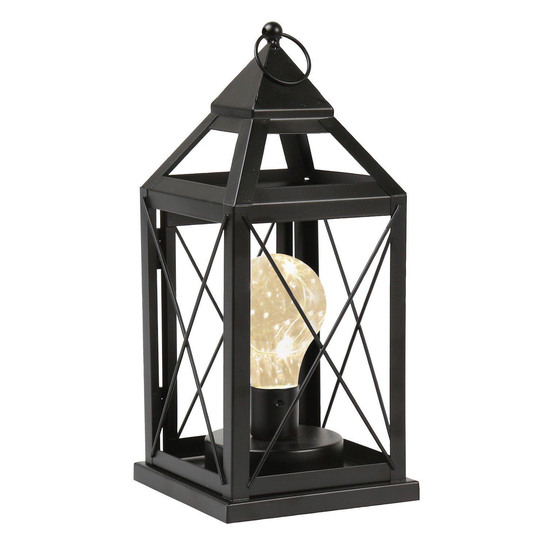 "ویکالا · خرید  اصل اورجینال · خرید از آمازون · Circleware Lantern Metal Cage Style Desk, Table, or Hanging Lamp - Cordless Accent Light with LED Bulb - 10.25"" High wekala · ویکالا"