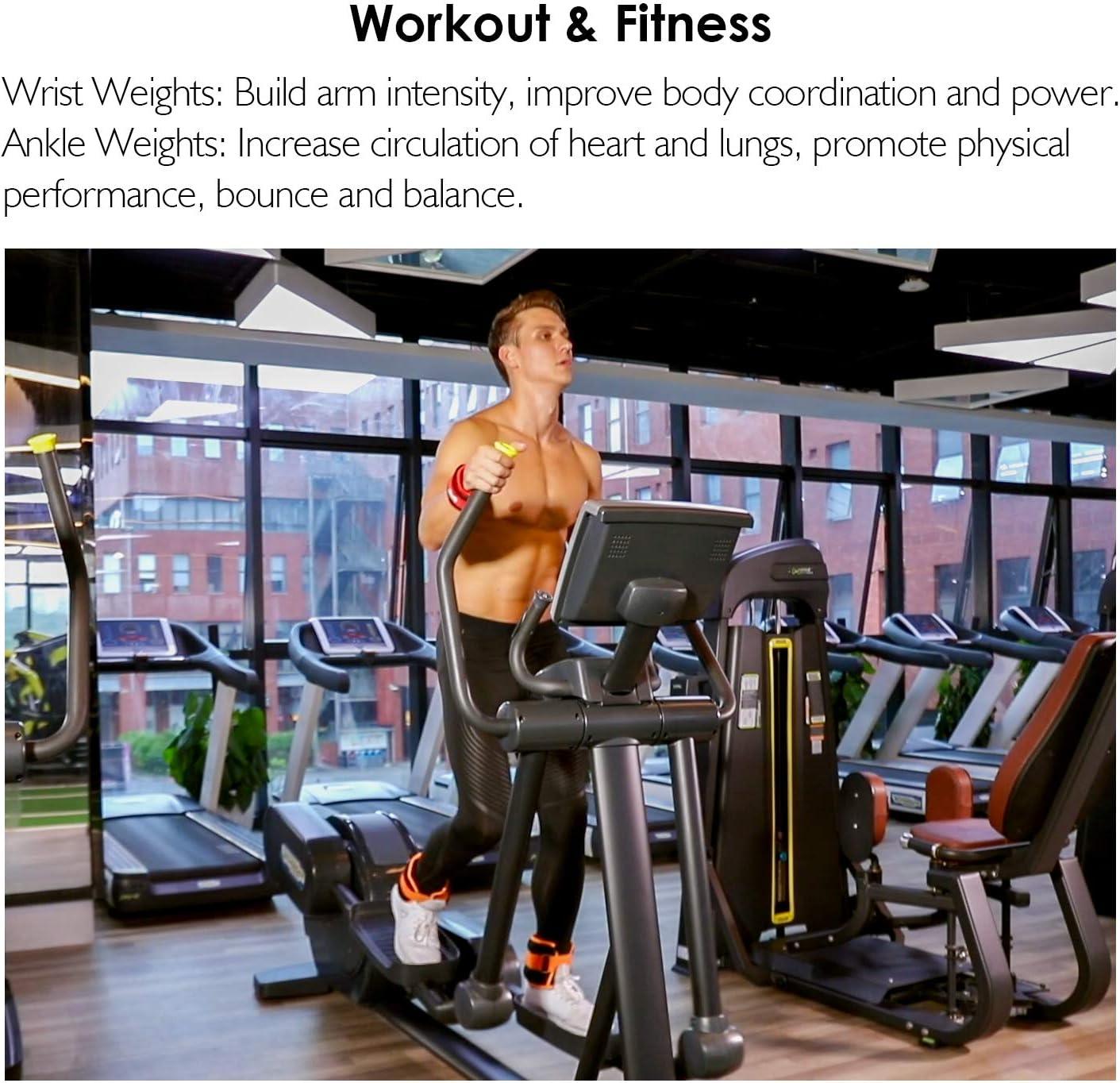 Gymnastik Laufen 1 Paar 1LB bis 10LBS// 0.5KG-4.6KG f/ür Fitness REEHUT Gewichtsmanschetten Fu/ßgelenk Bewegung Armgewichte Handgelenkgewichte Verstellbar Laufgewichte Set Joggen