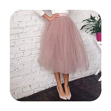 Yuren Snow-skirt Falda de tutú con Cremallera para Mujer - Rosa ...