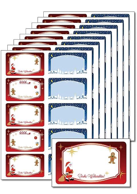 Etichette Per Regali Di Natale Da Stampare.Caro Haushaltswaren 80 Etichette Natale Inverno Stampabile