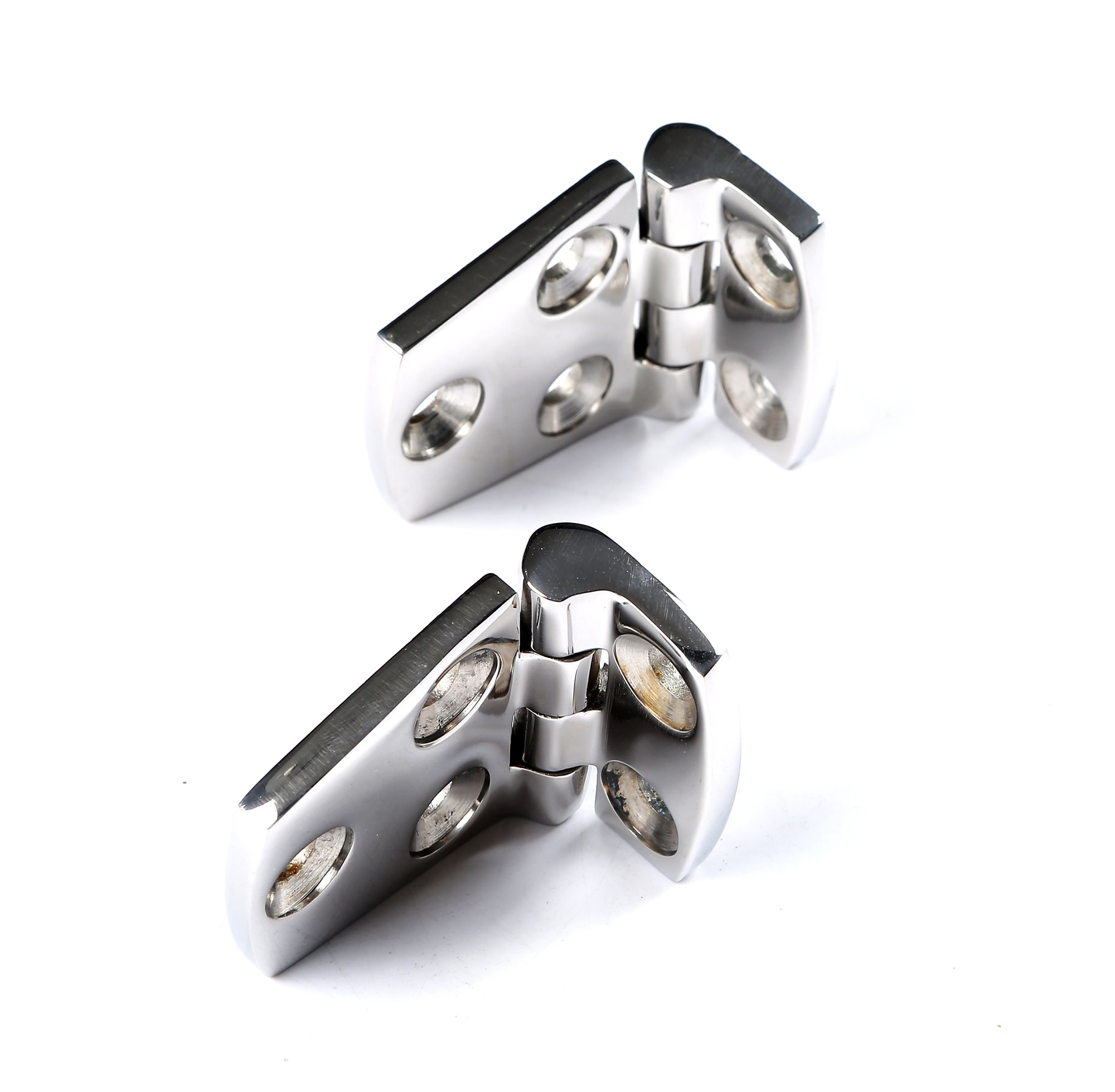 MxEol Boat Shortside Hinges Marine Hatch Flush Mount Heavy Duty Stainless Steel W/Fasteners 1-1/2'' x 2-1/4'' Pair